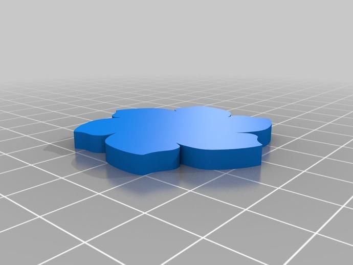 定制化花形圆形托盘