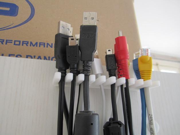 电缆支架/挂钩 3D打印模型渲染图