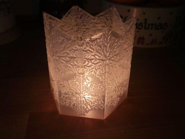 雪花形灯罩