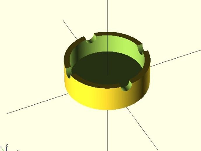 参数化圆形烟灰缸