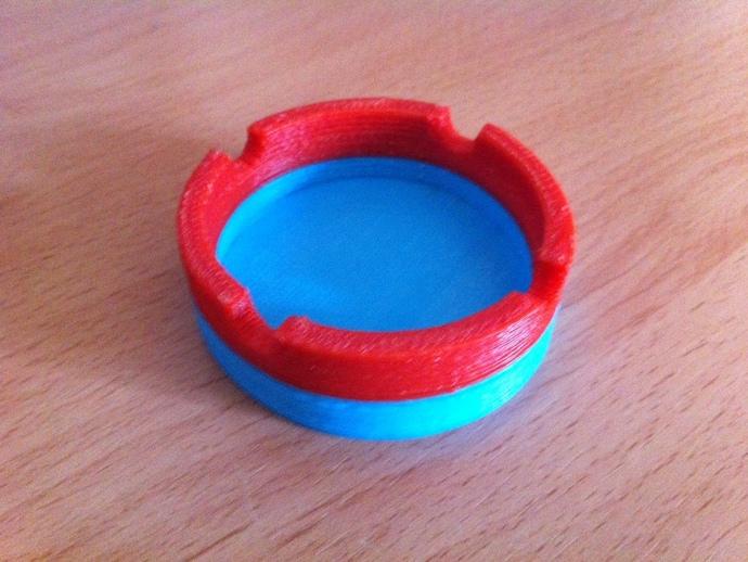 参数化圆形烟灰缸 3D打印模型渲染图