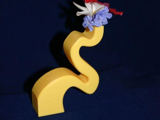个性化花瓶 3D打印模型渲染图
