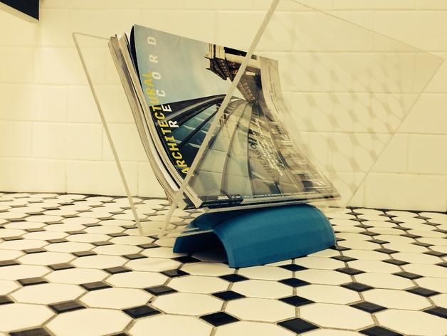 杂志架底座V1 3D打印模型渲染图