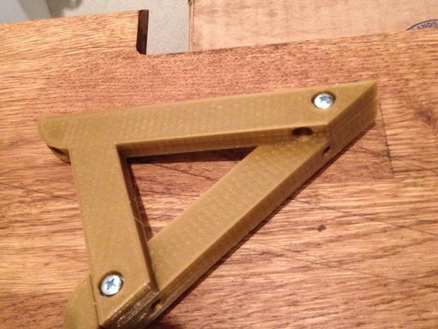 45度倾斜角托板/架子 3D打印模型渲染图