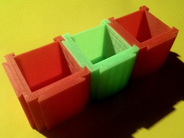 可扩展的方形小盒