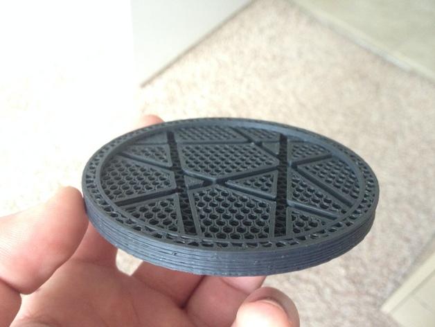 咖啡杯杯垫 3D打印模型渲染图