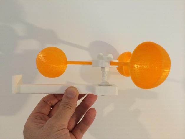 壁挂式风速计 3D打印模型渲染图