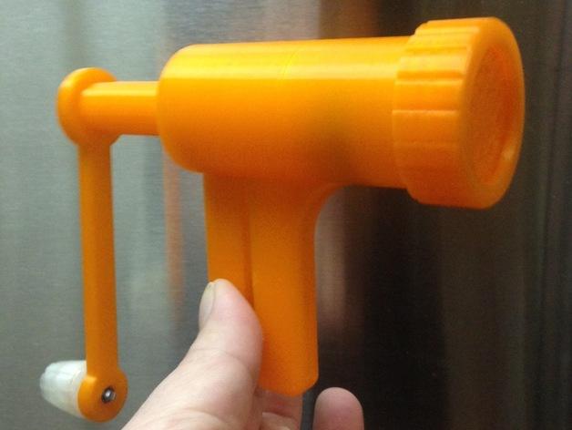 食物刨丝机/切片机 3D打印模型渲染图