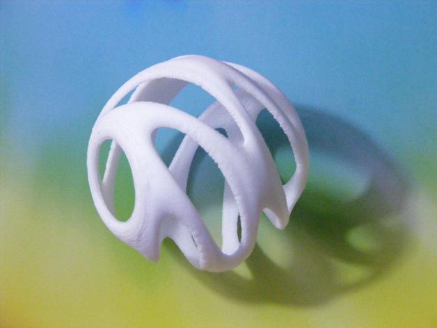 迷你螺旋结构装饰品 3D打印模型渲染图