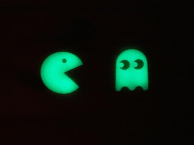 会发光的吃豆人/幽灵 3D打印模型渲染图