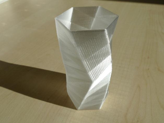 个性化人字斜纹花瓶 3D打印模型渲染图