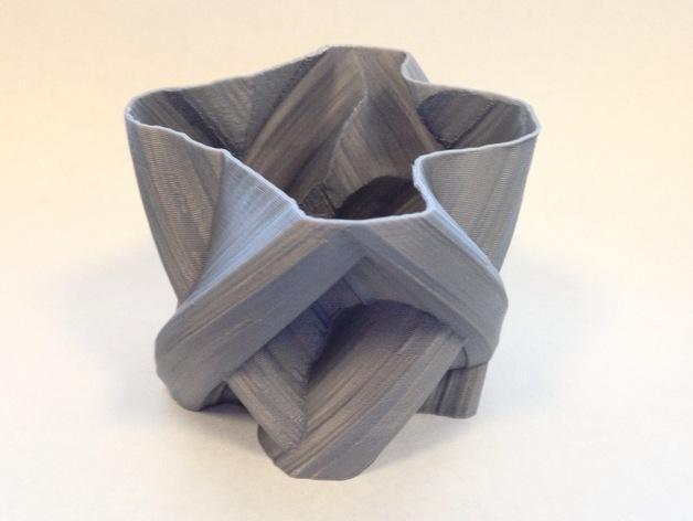 定制化自由风格花瓶 3D打印模型渲染图