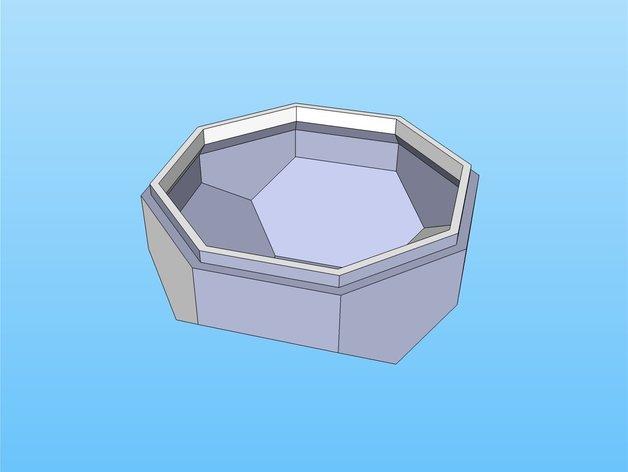 带盖的几何形盒子