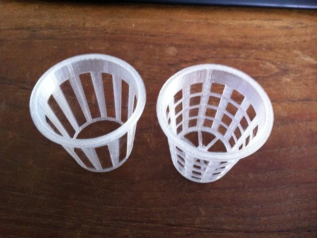 2英寸水培系统净锅 3D打印模型渲染图