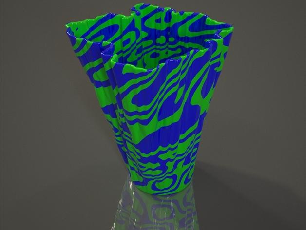 Rorschach花瓶 3D打印模型渲染图