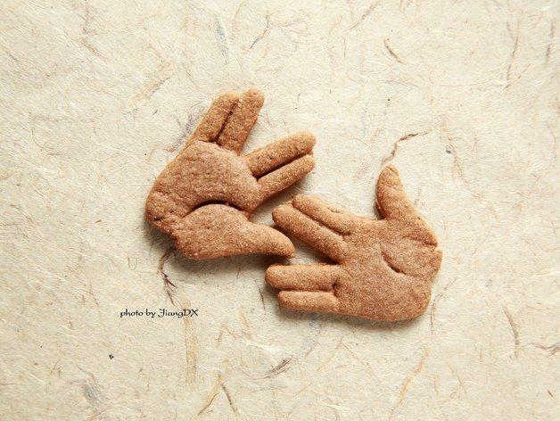 瓦肯举手礼饼干模具切割刀