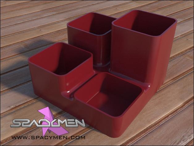 零碎杂物收纳盒 3D打印模型渲染图