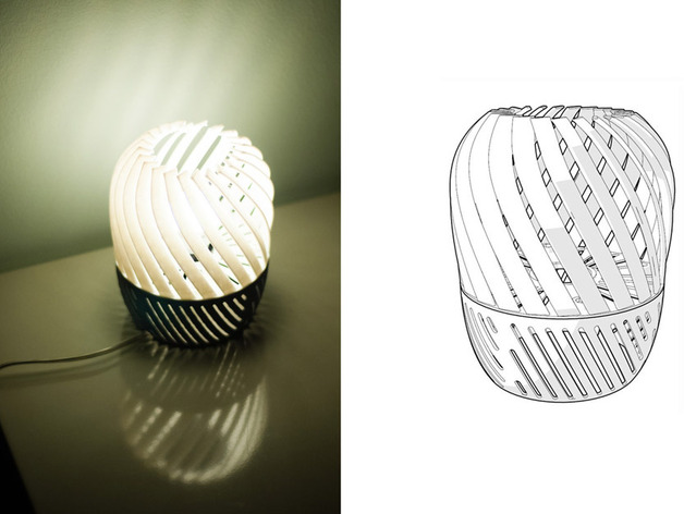 螺旋形灯罩