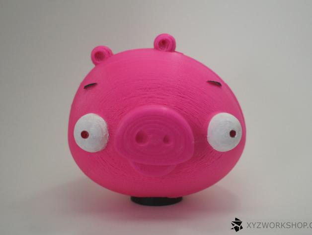 愤怒的小鸟小猪存钱罐 3D打印模型渲染图