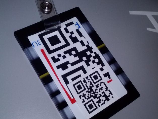 身份证卡套 3D打印模型渲染图