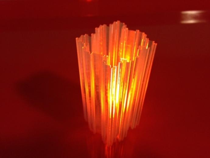 不规则方形LED灯罩 3D打印模型渲染图