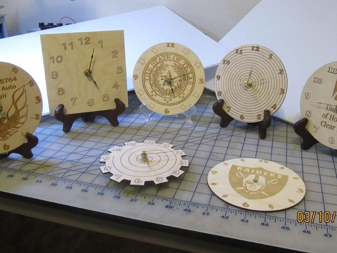 激光切割挂钟 3D打印模型渲染图