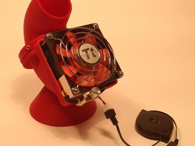 迷你驱虫电风扇 3D打印模型渲染图
