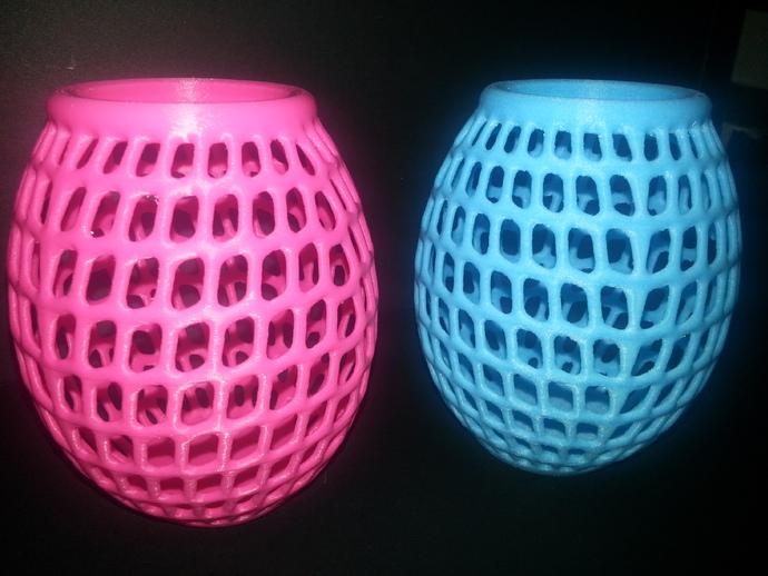 圆形镂空花瓶 3D打印模型渲染图