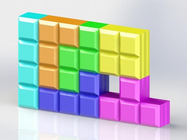 定制模块化俄罗斯方块形架 3D打印模型渲染图