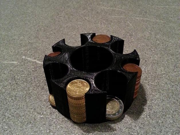 迷你硬币架 3D打印模型渲染图