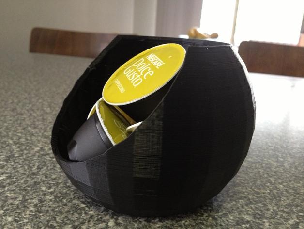 迷你胶囊咖啡盒 3D打印模型渲染图