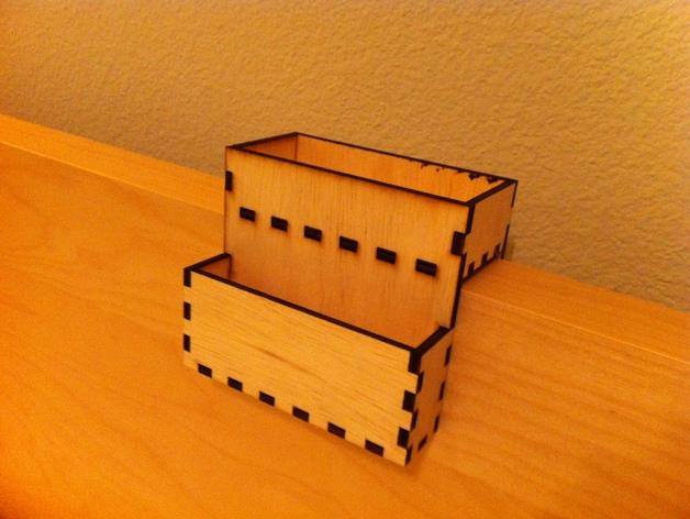 宜家MALM床头柜手机架 3D打印模型渲染图