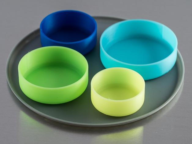 定制化圆形托盘 3D打印模型渲染图