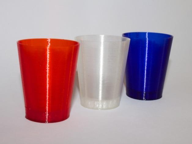 迷你酒杯 3D打印模型渲染图