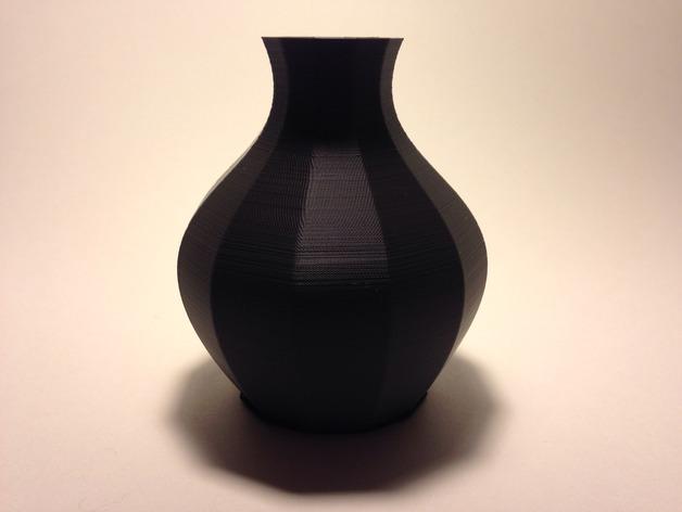 12面圆形花瓶 3D打印模型渲染图