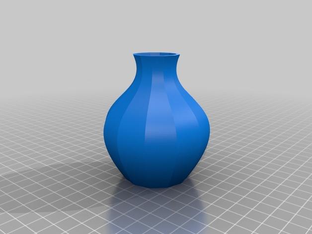 12面圆形花瓶