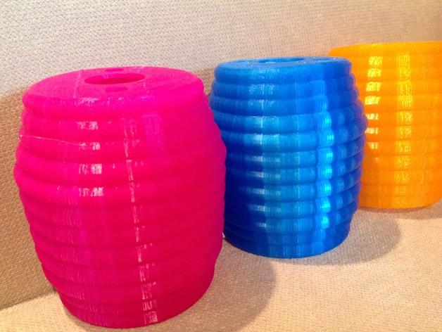 迷你庭院灯具 3D打印模型渲染图
