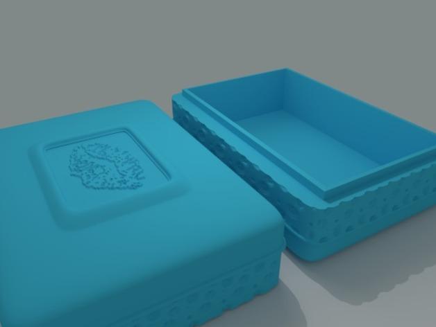 迷你首饰盒 3D打印模型渲染图