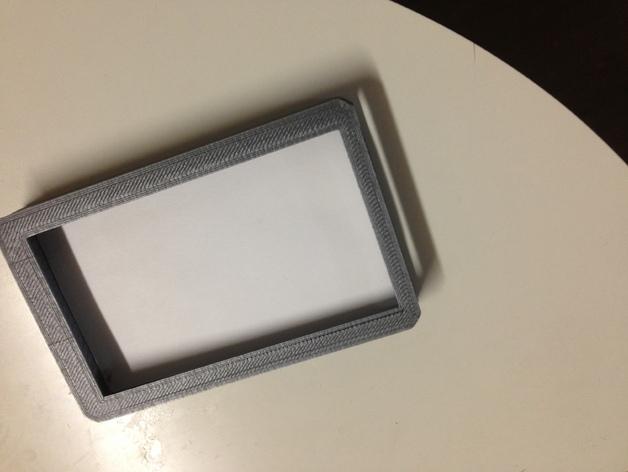 方形名片盒 3D打印模型渲染图