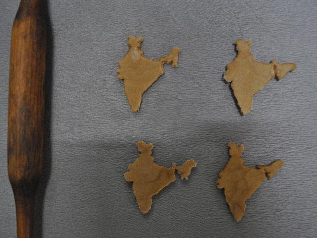 印度地图形饼干模具切割刀