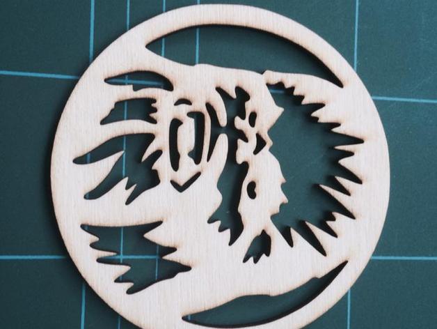 丘百卡杯垫 3D打印模型渲染图