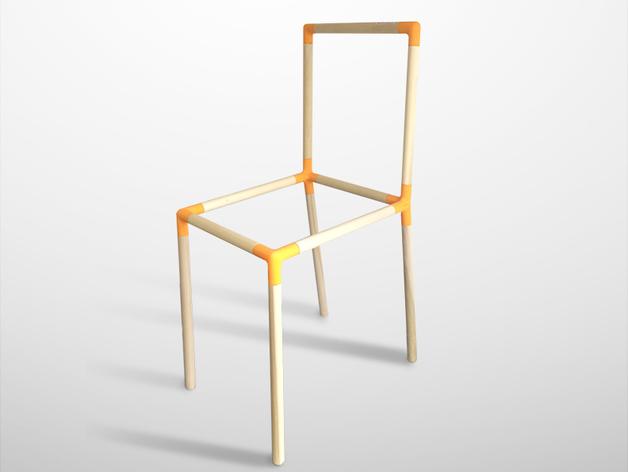 定制化儿童椅连接装置 3D打印模型渲染图