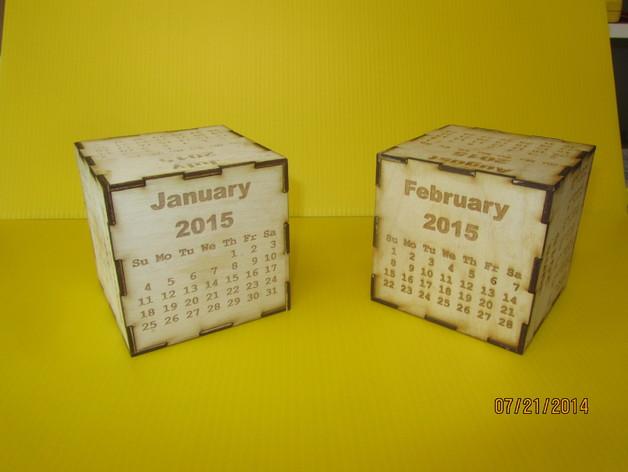 2015魔方日历 3D打印模型渲染图
