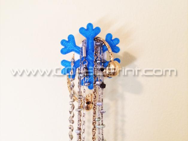 雪花形珠宝架 3D打印模型渲染图
