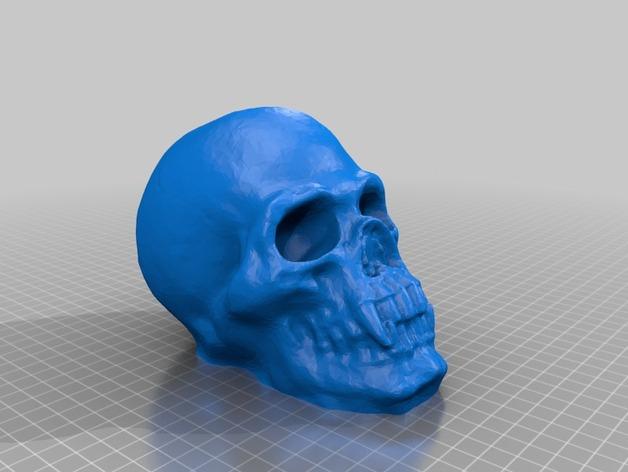 骷髅头存钱罐 3D打印模型渲染图