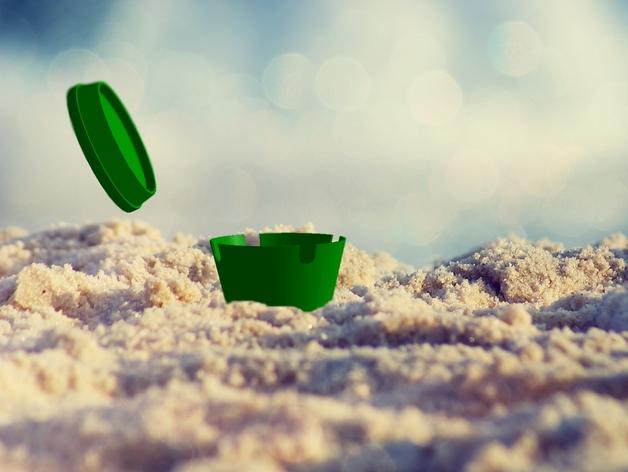 沙滩烟灰缸 3D打印模型渲染图