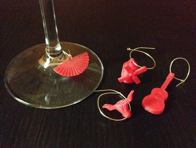 西班牙风格的酒杯挂件 3D打印模型渲染图