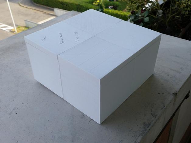 六分仪收纳盒 3D打印模型渲染图