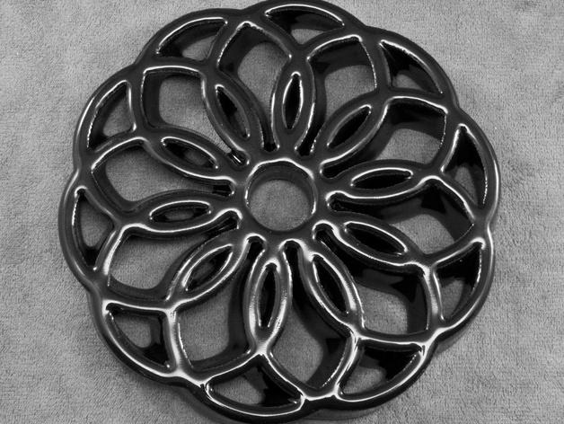 圆环形装饰品 3D打印模型渲染图