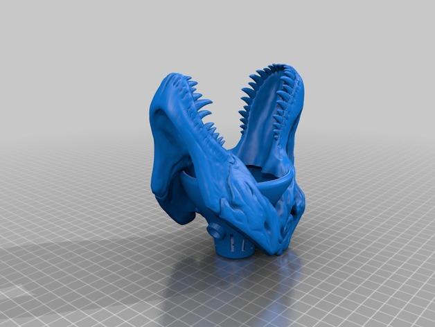 恐龙灯罩 3D打印模型渲染图